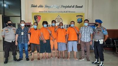 Operasi Antik 2021 , Polsek Patumbak Berhasil Ringkus 5 Orang Tersangka