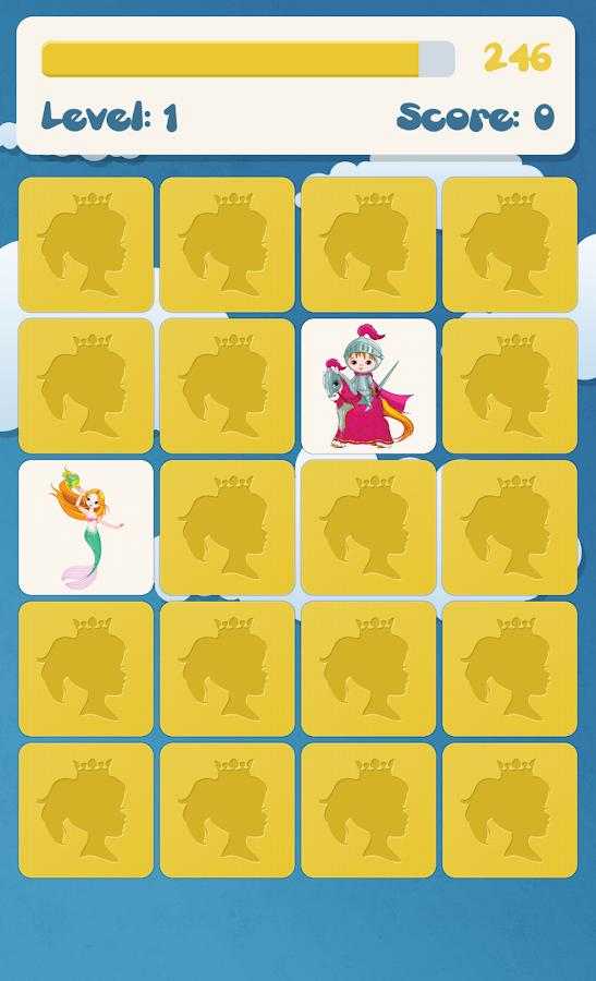 Princess memory game for kids - screenshot