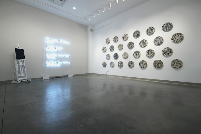 <p> <strong>Installation view</strong><br /> Token (for WCW) &amp;<br /> Splendide-H&ocirc;tel (for GS)<br /> Seymour Art Gallery<br /> 2019</p>