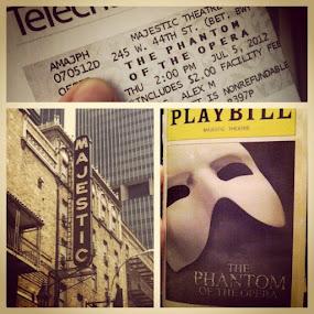 First stop on Broadway: The Phantom. #nyc #broadway #phantom #opera #majestic #theater #musical by Alex Santos - Instagram & Mobile Instagram