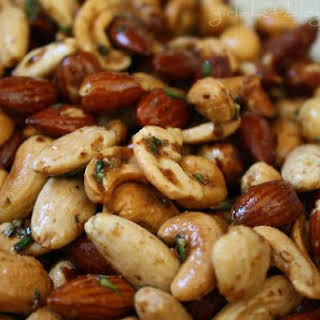Holiday Spiced Nuts.