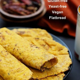 Yeast-free Sweet Potato Vegan Gluten free flatbread.