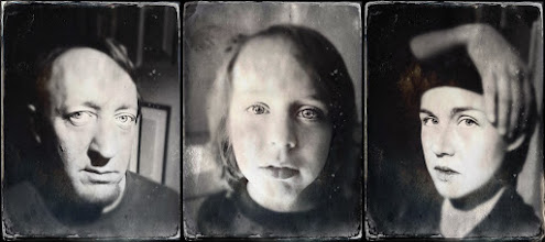 Photo: The Family That TinTypes Together….  I used the +Hipstamatic  Tintype app to capture the images and adjusted settings on each one of them within the app. Then I imported them to my computer and made a few adjustments in +Adobe Photoshop Lightroom that I couldn't make within the app, but wanted on the images. Finally, I used StarTych, a very basic diptych/triptych maker, to put them all together into one image.  #wearefamily   #tintype   #hipstamatic   #triptych