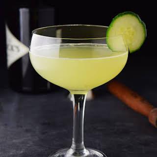 Cucumber Gin and Elderflower Martini.