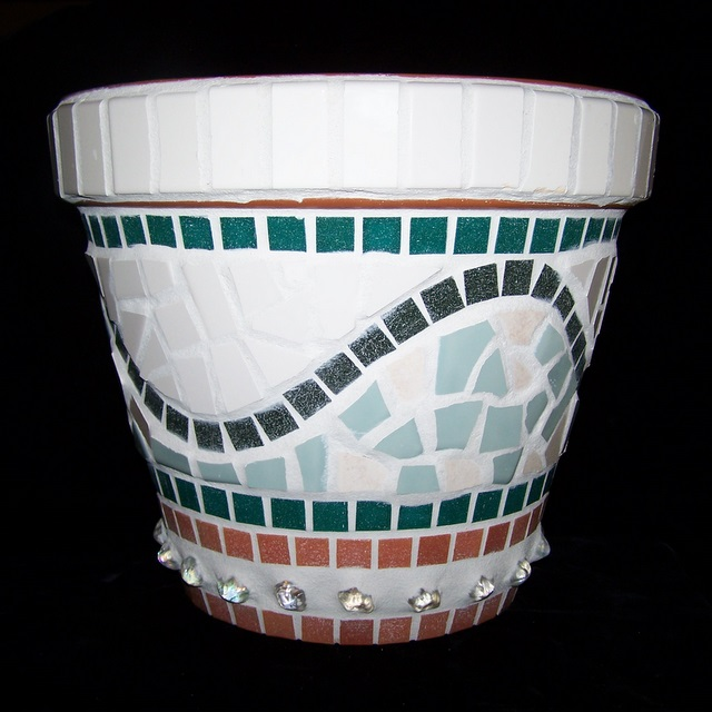 Naples Mosaic Flower Pot MOO7021
