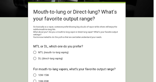 Mouth-to-lung or Direct-lung?                                                      What's your favorite output range?