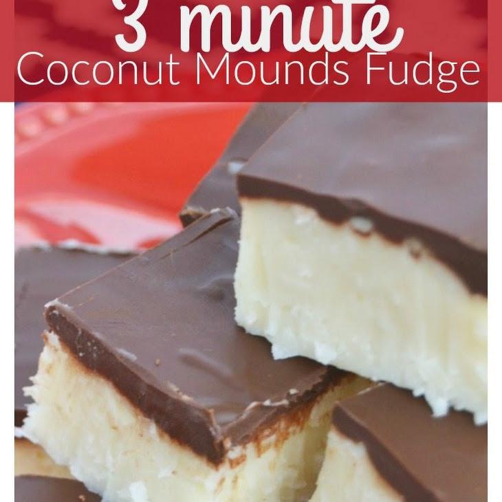 3 Minute Coconut Mounds Fudge Recipe