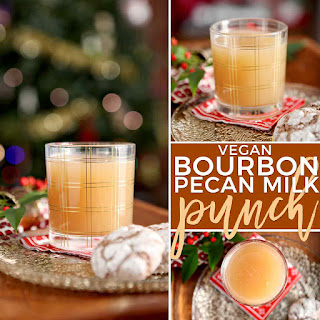 Vegan Bourbon Pecan Milk Punch.