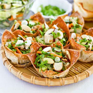 Chinese Chicken Salad Cups Recipe