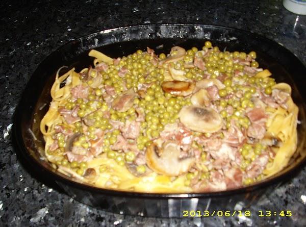 Pasta With Ham, Peas And Cream Recipe