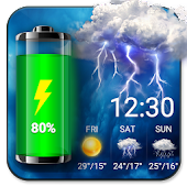 Weather Widget & Battery Checker