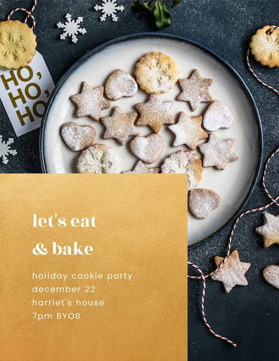 Let's Eat & Bake - Christmas Template