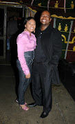 Actor Fezile Mpela and his former wife Marilyn  during happier times.