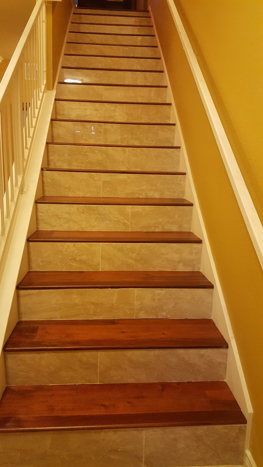 Marble Staircase - R and M Flooring