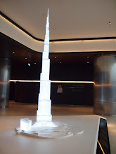 Photo: The tower's model in the lobby