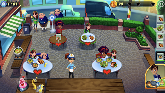 Diner DASH Adventures MOD Apk 1.3.8(Unlimited Coins) 5