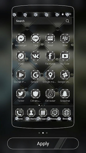 玩免費遊戲APP|下載Luxury Black Leather Theme app不用錢|硬是要APP
