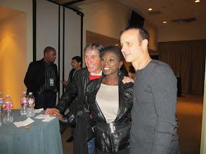 Photo: Richard Dwyer, Surya Bonaly and Brian Boitano