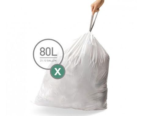Avfallspåsar till Simplehuman 3 x pack med 20 påsar(60-påsar)  TYP X