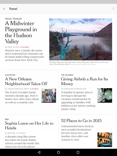 Screenshot 14 for The New York Times's Android app'