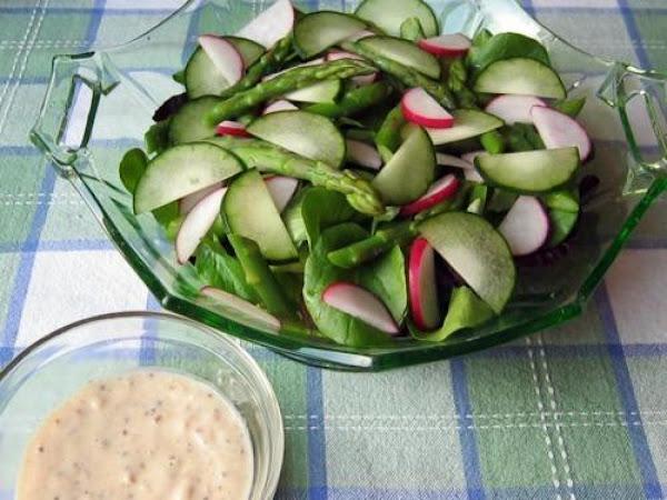 Irish Spring Salad With Buttermilk Cream Dressing Recipe
