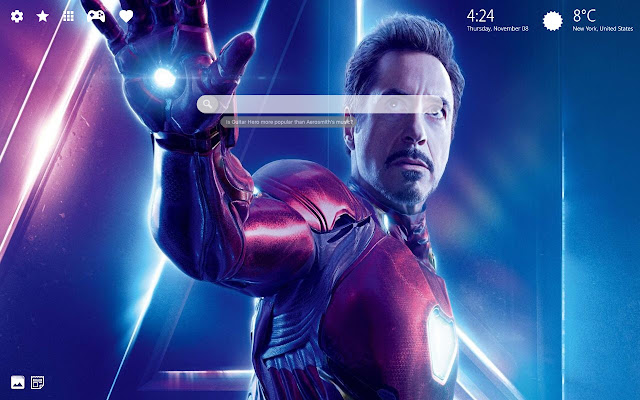 I Love You 3000 Tony Stark Iron Man New Tab