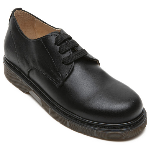 Thumbnail images of Step2wo Ramone - School Shoe - Black Leather