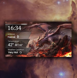 Weekly Weather&Clock Widget screenshot 1