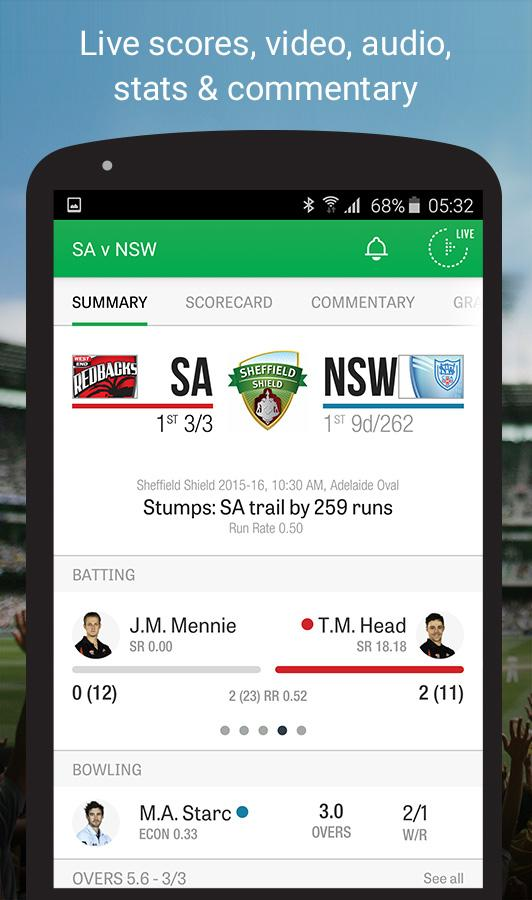 Cricket Australia Live- screenshot