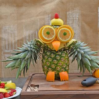 Pineapple Owl Centerpiece