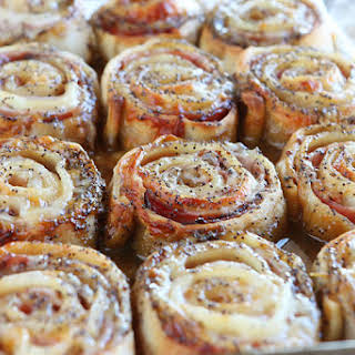 Hot Ham & Cheese Party Rolls.