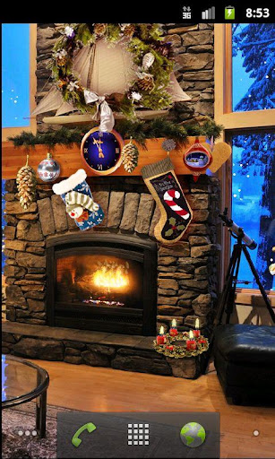 Christmas Fireplace LWP Full screenshot 1