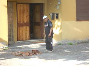 Photo: Sammartin: caduta comignolo della canonica