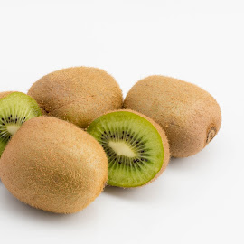 Kiwifruit by Helen Nickisson - Food & Drink Fruits & Vegetables ( chinese, kiwi, green, cut, fruit, gooseberry, whole )