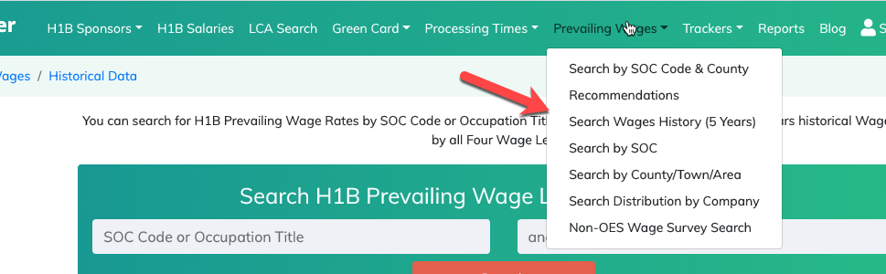 More things to browse on H1B Prevailing Wages