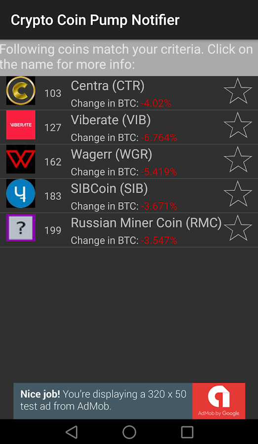 Crypto Coin Pump Notifier- screenshot