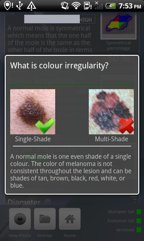 Doctor Mole - Skin cancer app- screenshot