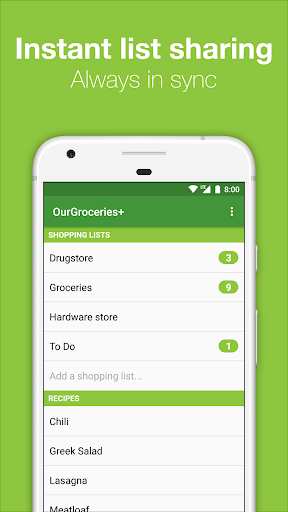 OurGroceries screenshot 2
