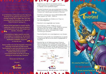 Toverland folder 2001 - 2