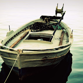 Lonely boat by Daniela Elena - Transportation Boats ( boat )