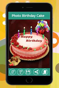 Name Photo On Birthday Cake Photo Frame Apprecs