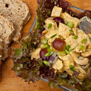 Curried Chicken Salad with Grapes and Cashews.