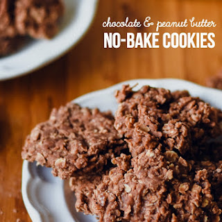 Chocolate and Peanut Butter No-Bake Cookies