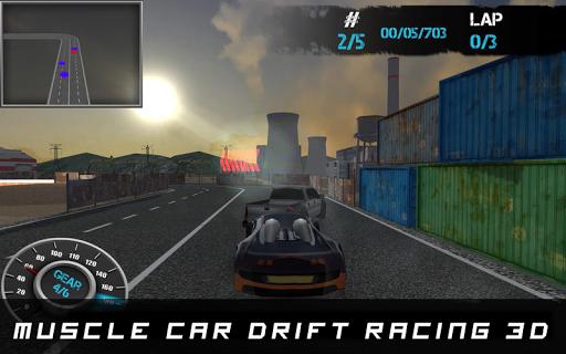 マッスルカーのドリフトレーシング3D