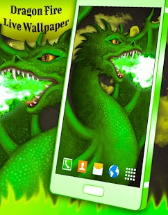 Dragon Fire Live Wallpaper - náhled