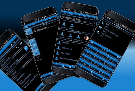Theme x RocketDial Frame Blue app (apk) free download for Android/PC/Windows screenshot