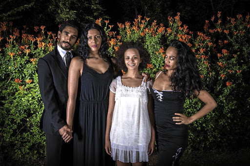 Secrets: The cast of Jungfrau is, from left, Jaques de Silva, Tracey-lee Oliver, Carla Classen and Ameera Patel. The play is based on a short story by Mary Watson. Picture: JAN POTGIETER
