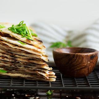 Taiwanese Scallion Pancake (crispy & flaky).