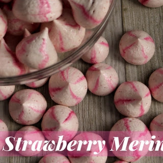 Real Strawberry Meringues.