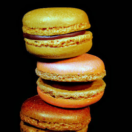 STACK of MAC's by Karen Tucker - Food & Drink Candy & Dessert ( yummy, treat, dessert, sweet treat, lustre macarons, colourful, cakes, macaroons, macarons, food, naughty but nice,  )